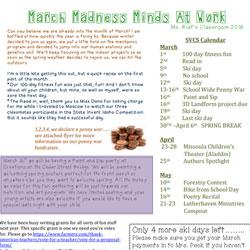 Ms. Rief March Schedule